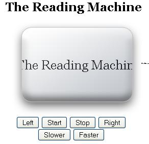 Reading machine