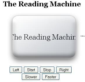 Reading machine