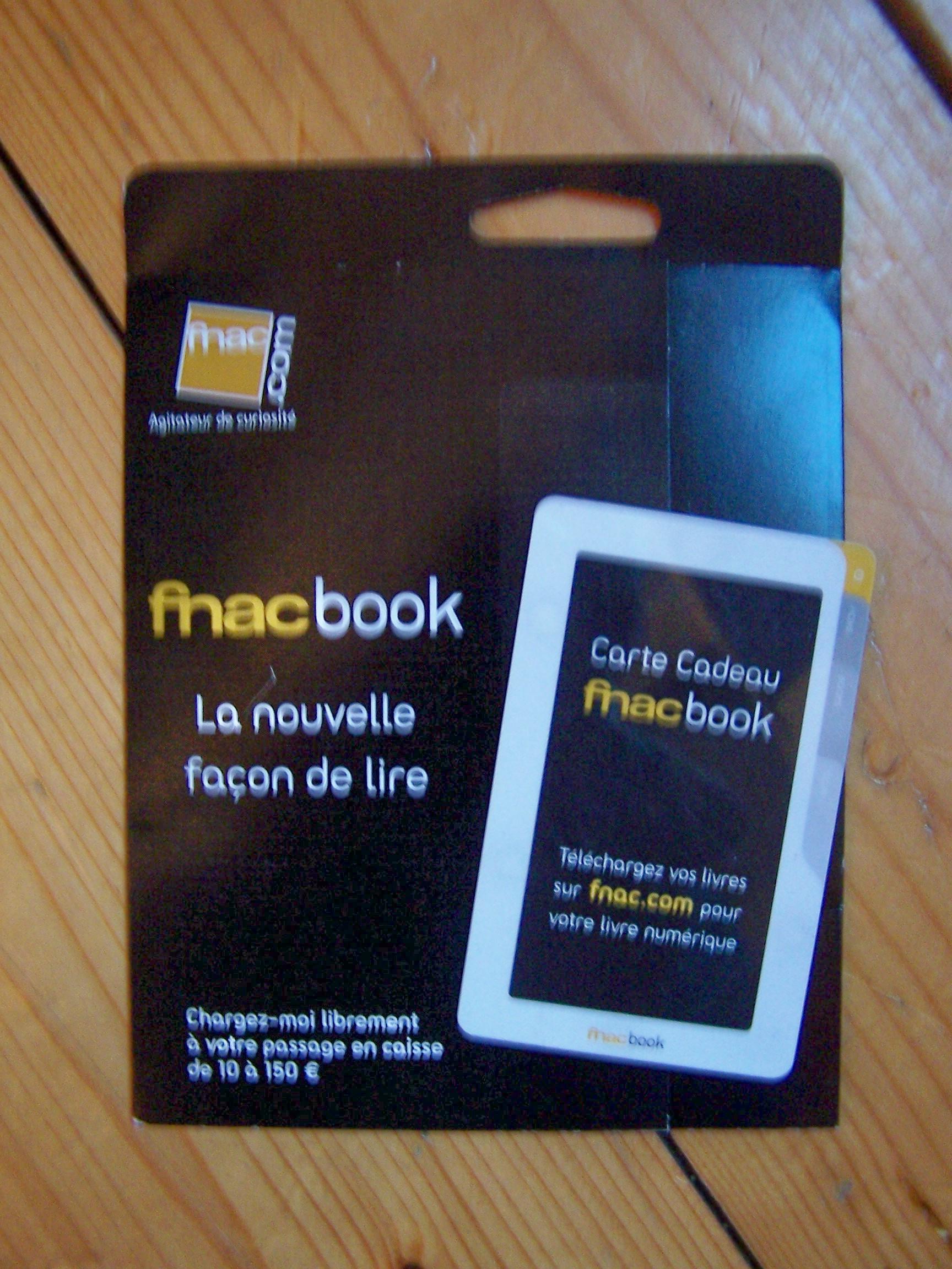 f8a3b403288b2 Bonne idée de la Fnac, bravo, c'est la possibilité de pouvoir offrir une  Carte Cadeau FnacBook avec un montant à définir en caisse entre 10 et 150€.