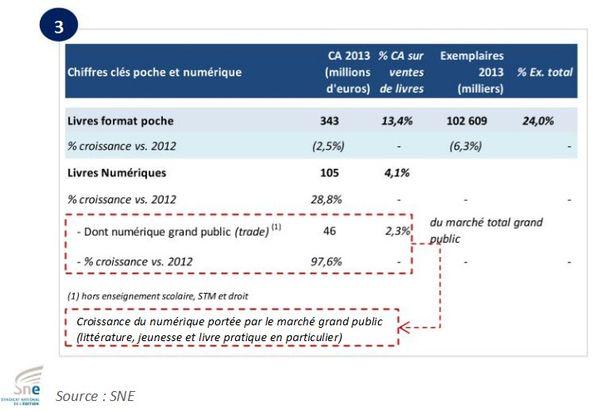 SNE : un marché du livre numérique à 2,3% en France